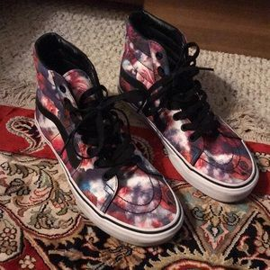 Vans detailed with roses
